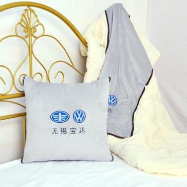 沙发垫抱枕被定制 酒店多用途磨毛印花抱枕套装枕被空调枕被批