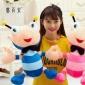 彩色蚂蚁毛绒玩具公仔毛绒礼品 女创意创意手工制作 小蜜蜂布娃娃